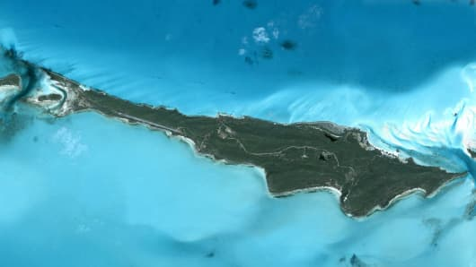 Innocence Island, Bahamas covers 681 acres.
